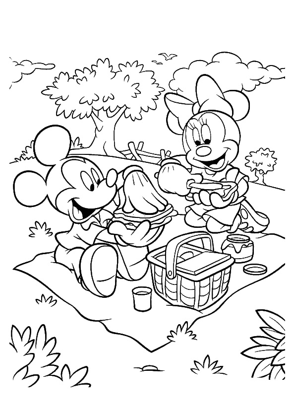 Mickey-On-Picnic