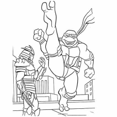 Free Printable Mighty Kick The Kraang Coloring Pages