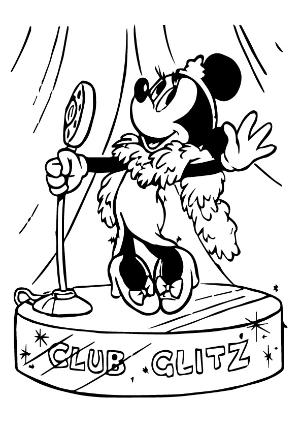 Minnie-Loves-Singing-in-clube