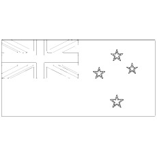 New Zealand Flag Picture To Color Free