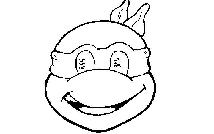 Michelangelo Mask Colouring Pages