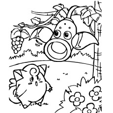 Clefairy Coloring Pages Parasect Of Pokemon Free Printable