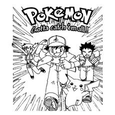 Perfect Pokemon Poster Coloring Pages