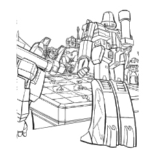Transformers Robot See Map and Planning a war Coloring Pages