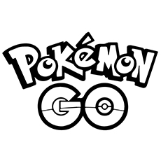 Pokemon Go Logo of the Game Coloring Pages
