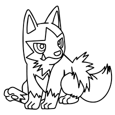 Pokemon Go Poochyena Coloring Pages