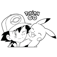pokemon pikachu go game coloring pages - Pokemon Go Coloring Pages
