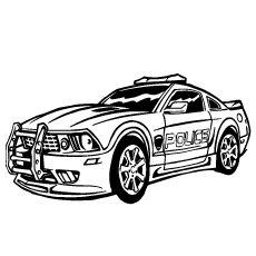 Police Car color to Print