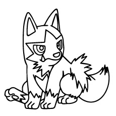 Poochyena of Pokemon to Color for Kids
