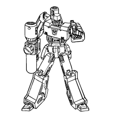 Transformer Putting Down The Gun Coloring Pages