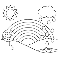 coloring pages rainbow Rainbow Coloring Pages   Free Printables   MomJunction coloring pages rainbow