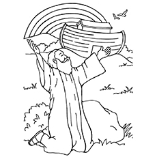 rainbow at noahs ark 16 - Coloring Page For Kids