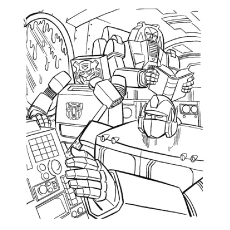 Free Printable Reading Transformer Coloring Pages