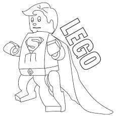 Redeyeslego Superman coloring pages