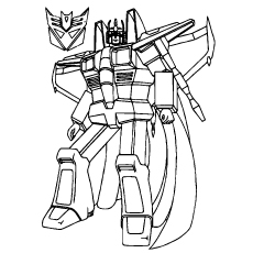 star scream coloring pages for kids from transformers - Transformers Coloring Pages