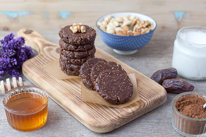 Sunflower seeds and dates cookies