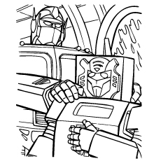 Transformers Tall and small Coloring Pages