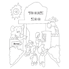 The Animal Zoo coloring pages