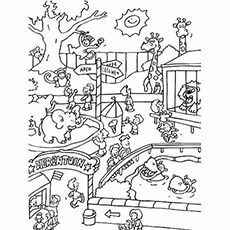 educational coloring pages zoo animals - photo#8