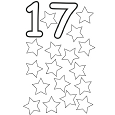 the color the stars - Number Coloring Pages