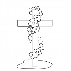 The Cross Coloring Image