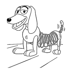 the cute slinky dog coloring pages - Buzz Lightyear Face Coloring Pages