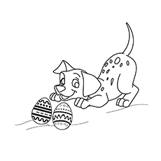 The Dalmatian And Easter Egg