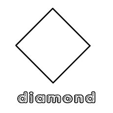 coloring pages of simple diamond shape