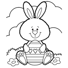 Easter Bunny Coloring Image To Print