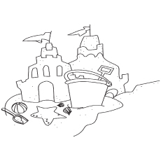 The Fabled Sand Castle coloring pages