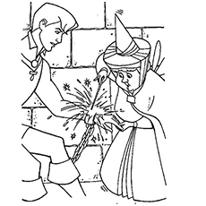 Fairy Helps Prince Phillip to be Free Coloring Page