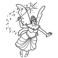 Fairy Godmother Coloring Pages to Print