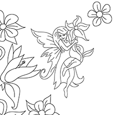 the flower fairy - Coloring Pages Fairies Flowers