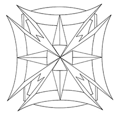 easy geometric design coloring pages - photo#38