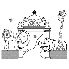 educational coloring pages zoo animals - photo#13
