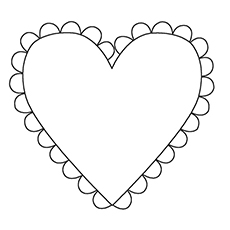 coloring pages heart shapes - photo#31