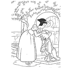 Queen Kissing Adieu Prince Snow White Coloring Pages