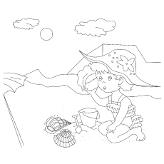 The Listening to the Conch Shell coloring pages
