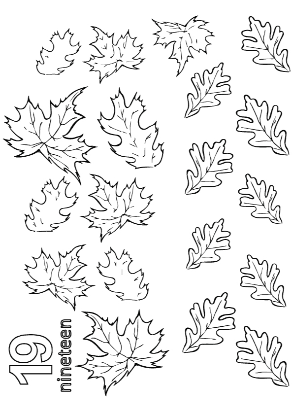 The-Maple-Leaves-to-color