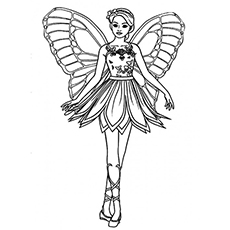 Beautiful Mariposa Fairy Coloring Page Free