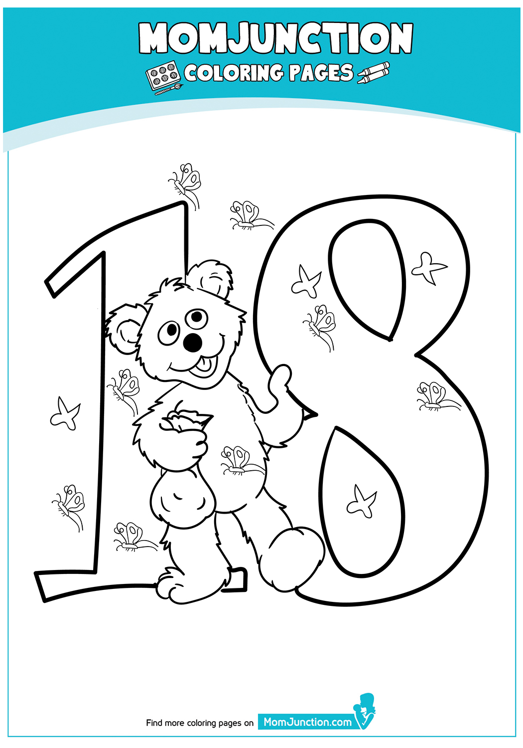 The-Number-18-Baby-bear-color-to-pritnt-17