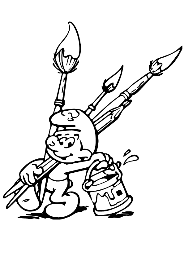The-Painter-Smurf-Boy