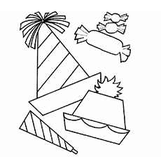 party goodies in different shapes to color - Coloring Pages Shapes