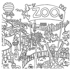educational coloring pages zoo animals - photo#41