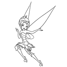 printable periwinkle fairy colouring page to print - Fairy Coloring Page