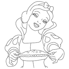 Snow White made Pie is Ready Coloring Pages
