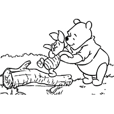 the pooh and piglet - Pooh Coloring Pages