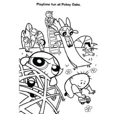 Powerpuff Girls Fun at Pokay Oaks Coloring Pages