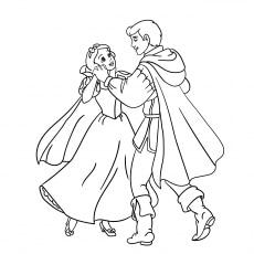 The Prince And Princess Dancing