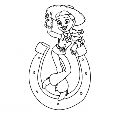 The Stylish Jessie The Cowgirl Coloring Pages Printable